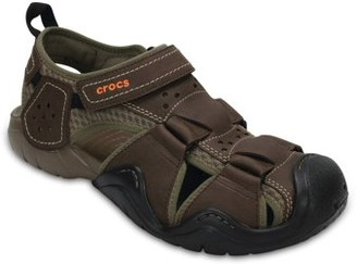 Crocs Men's Swiftwater Leather Fisherman Sandals