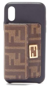 Fendi Baguette Ff-wallet Iphone X Case - Womens - Black Multi