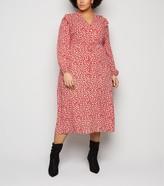 New Look Curves Floral Frill Midi Dress