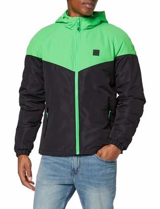 Urban Classics Men's Windbreaker 2-Tone Padded Windrunner Jacket