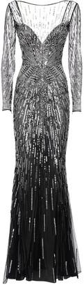 ZUHAIR MURAD Sequined Tulle Long Dress
