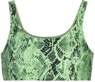 Alo Yoga Vapor snake-print sports bra