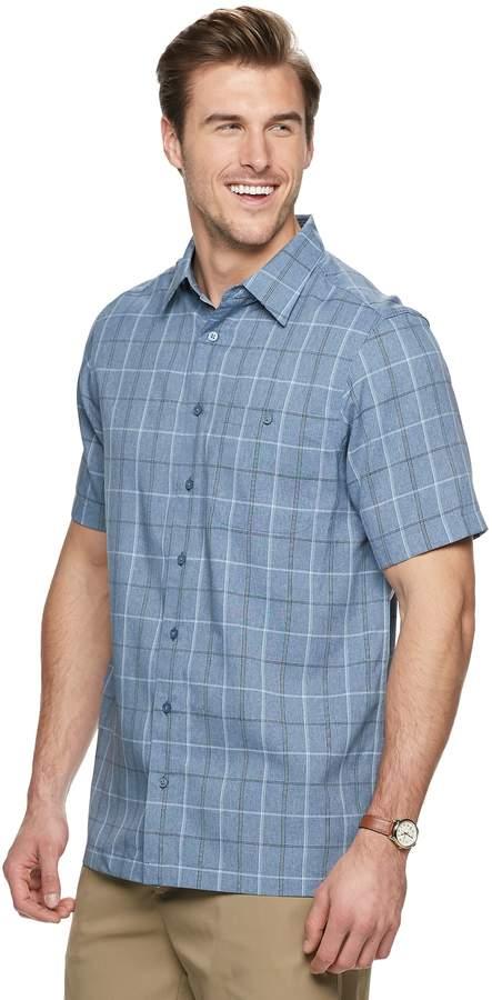 Haggar Big & Tall Regular-Fit Microfiber Easy-Care Button-Down Shirt
