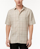 Tasso Elba Island Men's Silk Linen Tile Shirt, Only at Macy's