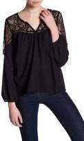 BB Dakota Lace Long Sleeve Blouse