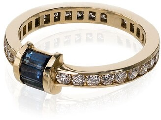 Retrouvaí 14kt Yellow Gold Sapphire And Diamond Ring