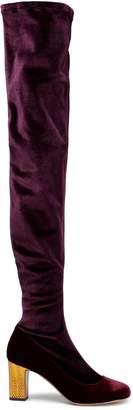 Tabitha Simmons Ashlyn Velvet Thigh Boots