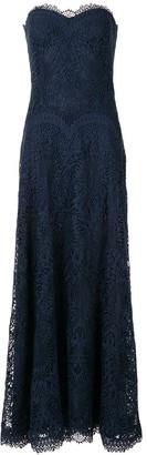 Tadashi Shoji strapless lace gown
