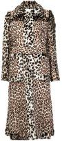 Stella McCartney panelled faux fur coat