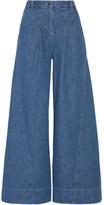 Ulla Johnson Lange High-rise Wide-leg Jeans - Mid denim