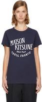 MAISON KITSUNÉ Navy palais Royal T-shirt