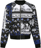 Versus printed bomber jacket - men - Polyester/Spandex/Elastane/Viscose/Cotton - 48