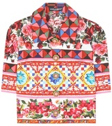 Dolce & Gabbana Cropped Cotton Blouse