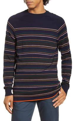 Scotch & Soda Regular Fit Stripe Crewneck Sweater