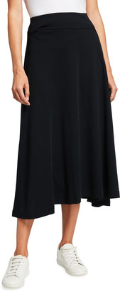 Joan Vass Plus Size Long Cotton Interlock Skirt