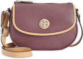 Giani Bernini Saffiano Top-Zip Mini Saddle Bag, Only at Macy's