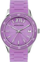 Jacques Lemans Rome Sports 1-1623J 37mm Stainless Steel Case Purple Silicone Mineral Women's Watch
