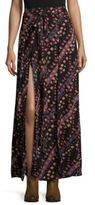 Free People Remember Me Mock-Wrap Maxi Skirt