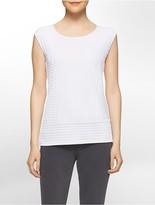 Calvin Klein Textured Tonal Stripe Sleeveless Top