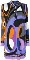 Emilio Pucci abstract print shirt dress - women - Silk/Spandex/Elastane/Viscose - 40