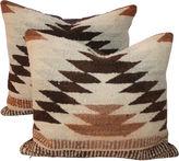 One Kings Lane Vintage Weaving Pillows, Pair