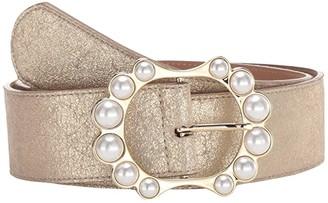 Leather Rock Paulette Belt (Champagne) Women's Belts