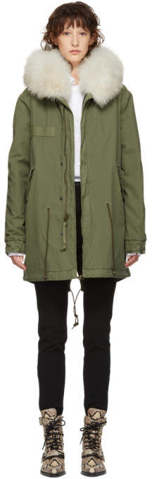 Mr & Mrs Italy Green Midi Canvas Parka