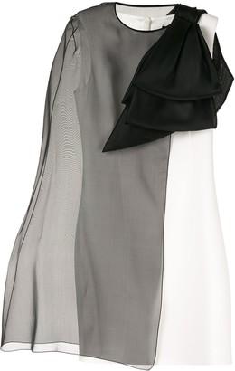 Paule Ka Sheer Overlay Dress