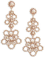 Kate Spade Floral Studded Drop Earrings