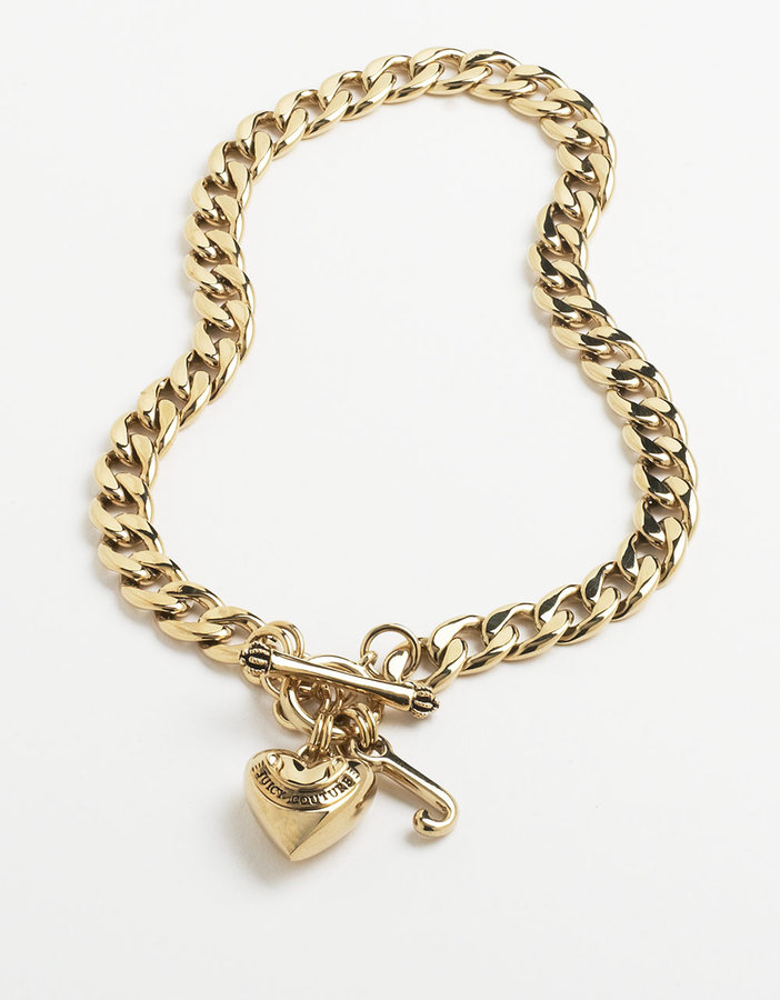 Juicy Couture 14 Kt. Gold Plated Starter Charm Bracelet
