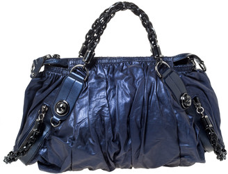 Gucci Metallic Midnight Blue Soft Leather Galaxy Satchel