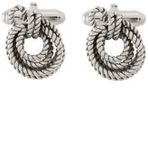 Lanvin tied rope cufflinks - men - Rhodium - One Size