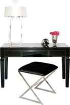 Worlds Away Jacklyn Black Desk