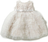 Joan Calabrese Baby Girls 6-24 Months Embroidered-Lace Ruffle Tulle Dress