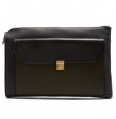 Bottega Veneta Contrast-panel leather document holder