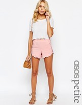 Asos Scallop Hem Jersey Shorts