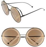 Fendi Women's Run Away 63Mm Round Sunglasses - Brown