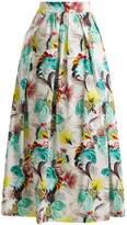 Mary Katrantzou Floral-print cotton-poplin midi skirt