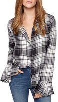 Sanctuary Women's Nightscape Plaid Ruffle Cuff Shirt