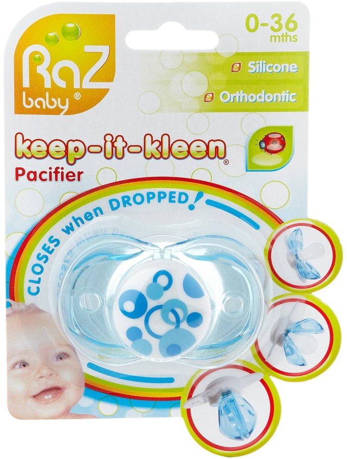 Razbaby Keep-It-Kleen Pacifier - Blue Circles