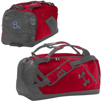 Under Armour Red/Graphite Ole Miss Rebels Good Performance Backpack Duffel Bag