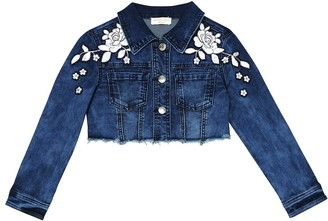 MonnaLisa AppliquAd denim jacket