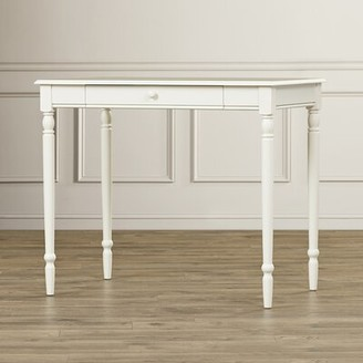 Andover Mills Ariella Solid Wood Desk Color: Driftwood/White