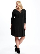 Old Navy Lace-Front Plus-Size Swing Dress