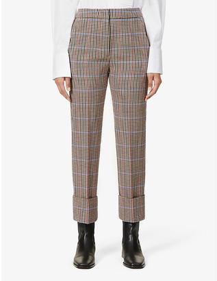 Sportmax Sengale check-print slim-fit high-rise woven trousers