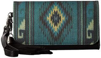 M&F Western Blue Serape Clutch Wallet (Blue) Clutch Handbags