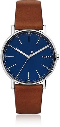 Skagen Signatur Brown Leather Men's Watch