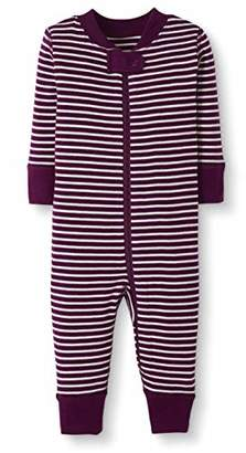 Moon and Back One Piece Footless Pajamas Sleepers, Coral, 2T