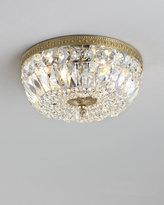 Horchow Large Prism Brass Flush-Mount Ceiling Fixture