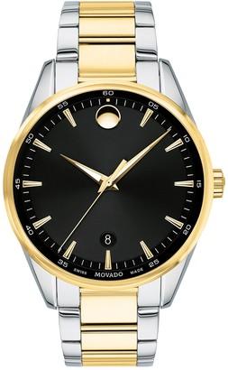 Movado Men's Stratus Swiss Quartz Two-Tone Bracelet Watch, 40mm